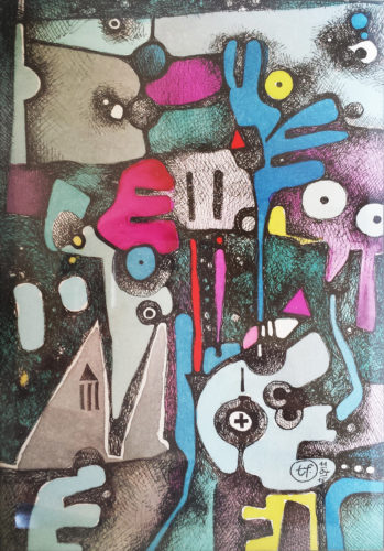 (Fineliner | Aquarell) 20 x 30 cm