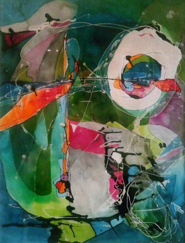 (Lack | Aquarell) 59 x 84 cm