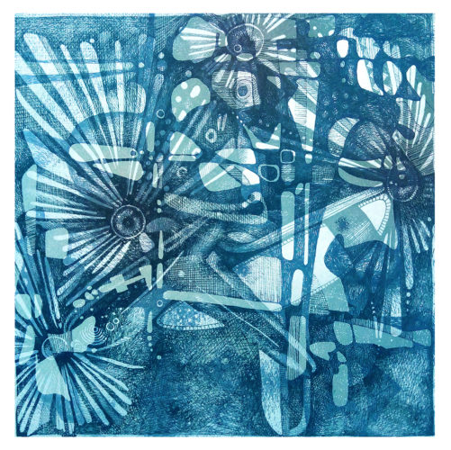 (Fineliner | Aquarell) 20 x 20 cm